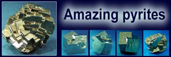 Spanish pyrites and pyrite cubes for sale
