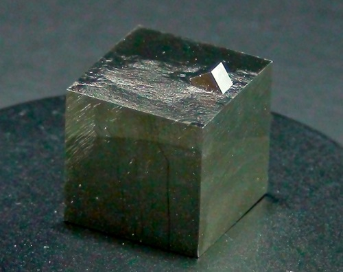 Pyrite cube with small cube