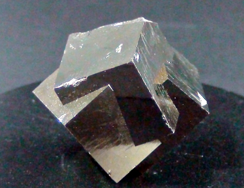 Pyrite twin of 3 pyrites
